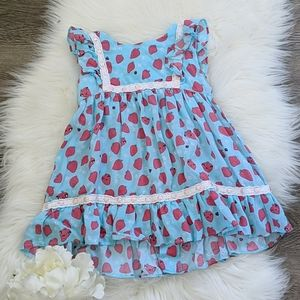 • hatley • strawberry printed dress